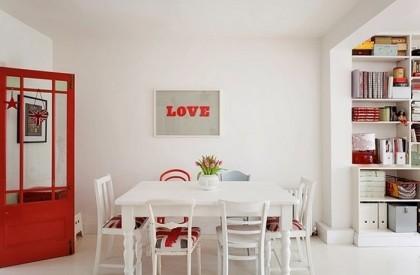 Design : Λευκές και κόκκινες λεπτομέρειες που κάνουν τη διαφορά
